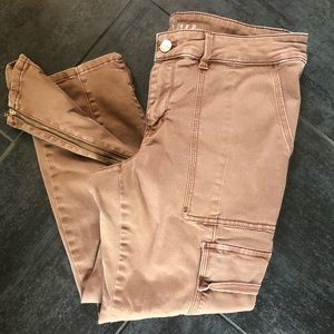 WHBM utility slim fit ankle pants 10 short